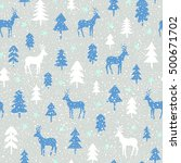 seamless christmas pattern | Shutterstock .eps vector #500671702