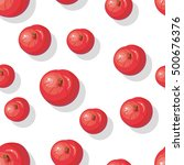 seamless pattern with red...   Shutterstock .eps vector #500676376