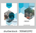 vector brochure cover templates ... | Shutterstock .eps vector #500681092
