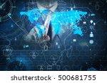 man in social networks concept | Shutterstock . vector #500681755