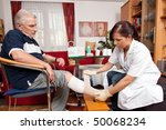 wound care by a nurse | Shutterstock . vector #50068234