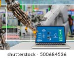 cyber   physical production or... | Shutterstock . vector #500684536