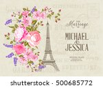 the marriage card. wedding... | Shutterstock .eps vector #500685772