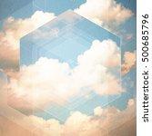 clouds triangulation background.... | Shutterstock . vector #500685796