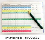 Blank Golf Score Card With...