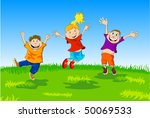 group of playing children | Shutterstock .eps vector #50069533