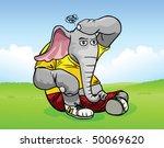 elephant body builder... | Shutterstock .eps vector #50069620