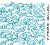 waves seamless border pattern.... | Shutterstock .eps vector #500701582