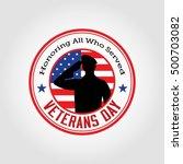 vector illustration of veterans ... | Shutterstock .eps vector #500703082