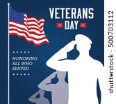 vector illustration of veterans ... | Shutterstock .eps vector #500703112