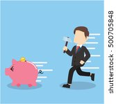 businessman want to destroy... | Shutterstock .eps vector #500705848
