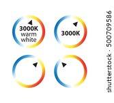 kelvin color temperature scale...   Shutterstock .eps vector #500709586