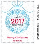 christmas greeting card color... | Shutterstock .eps vector #500710468