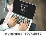 contract concept | Shutterstock . vector #500718952
