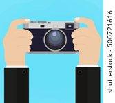 flat illustration of retro...   Shutterstock . vector #500721616