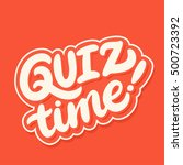 quiz time banner. | Shutterstock .eps vector #500723392