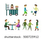 urban people icons with various ... | Shutterstock .eps vector #500725912
