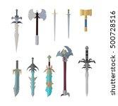 set of fantastic game weapon...