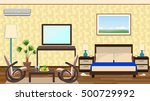 flat style interior of a hotel... | Shutterstock .eps vector #500729992