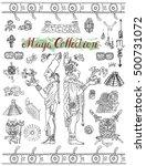set with mayan  inca or aztecs... | Shutterstock .eps vector #500731072