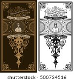 vintage card. baroque ornaments ...   Shutterstock .eps vector #500734516
