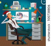 businessman sitting in the... | Shutterstock .eps vector #500738806