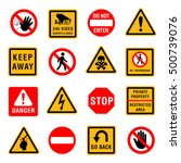 restriction sign set. forbidden ... | Shutterstock .eps vector #500739076