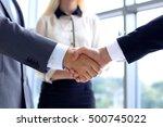 business handshake | Shutterstock . vector #500745022