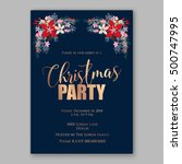 christmas party invitation... | Shutterstock .eps vector #500747995