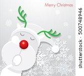 christmas card   reindeer  ... | Shutterstock .eps vector #500748946