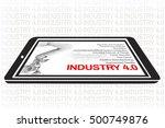 industry 4.0 the future... | Shutterstock . vector #500749876
