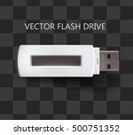 flash drive usb in white color. ... | Shutterstock .eps vector #500751352