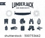 Hand Drawn Lumberjack Textured...