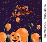 halloween balloons bottom...   Shutterstock .eps vector #500760826