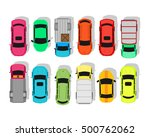 multicolor cars isolated on... | Shutterstock .eps vector #500762062