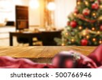 christmas interior with empty... | Shutterstock . vector #500766946