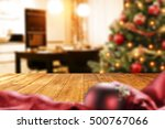 christmas interior with empty... | Shutterstock . vector #500767066