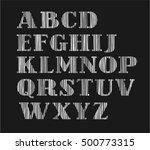 english alphabet  capital... | Shutterstock .eps vector #500773315