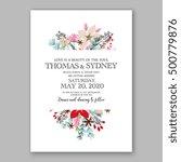 wedding invitation card... | Shutterstock .eps vector #500779876