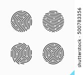 fingerprint icons. vector... | Shutterstock .eps vector #500783356
