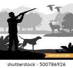hunter silhouette shooting...