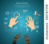 virtual interface design... | Shutterstock .eps vector #500787598