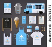 ice cream corporate identity... | Shutterstock .eps vector #500788876