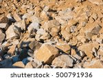 Rock Slide Area  Pile Of Falle...