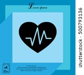 heartbeat vector icon | Shutterstock .eps vector #500793136