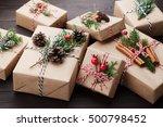 Christmas Gift Or Present Box...