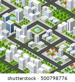 3d isometric city landscape of... | Shutterstock . vector #500798776