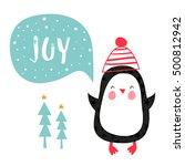 christmas card. creative hand...   Shutterstock .eps vector #500812942