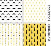 set of printable vector... | Shutterstock .eps vector #500827228
