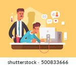 boss looks employee | Shutterstock .eps vector #500833666